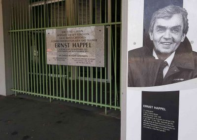 At the Ernst Happel Stadium (Photo: Marcel Put, private collection)