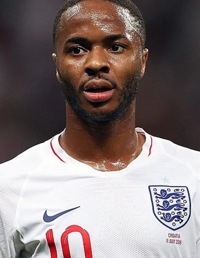 Raheem Sterling playing for England in the 2018 World Cup (Photo: Антон Зайцев, Wikimedia Commons)