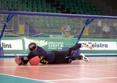 Australian goalball player Warren Lawton at the 2000 Sydney Paralympics (Photo: Australian Paralympic Committee / Australian Sports Commission)