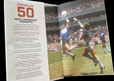 "Inside front cover of ""Football's Fifty Most Important Moments: From the Writers of the Football History Boys Blog"""