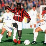 George Weah and Fabio Cannavaro in 1995 (Photo: Allsport)