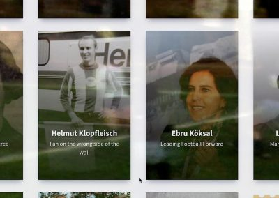 "Inside the ""Life Stories"" section in FMH website"