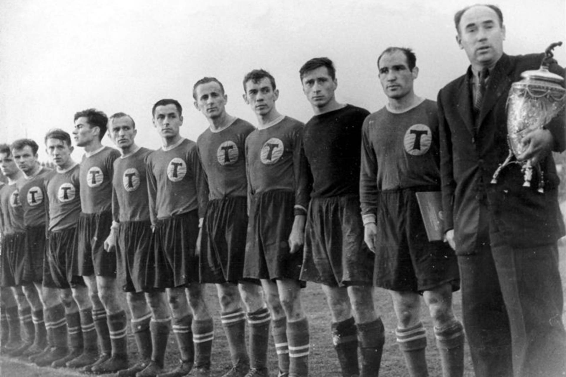 Torpedo Moscow Winning USSR CUp 1949 (Photo origin unknown. Source: Fotboltrotters)