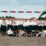 (Constant Cremer posing for a team picture with Willem II Archief Willem II - color enhancement by Jan van Oevelen ©).