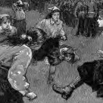 "Illustration of the ""First Match of the British Ladies' Football Club"" (H.M. Paget), March 1895 (Source: The Graphic, 1895-03-30, p. 3)."