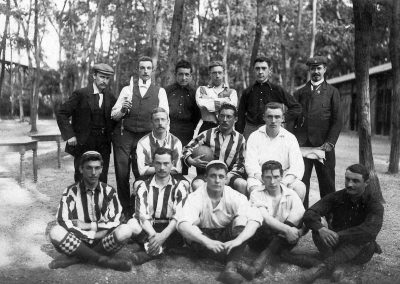 Belgian student association football team at the 1900 Olympic Games.