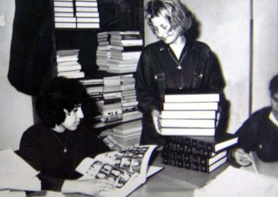 Librarians arrange gifts and donation from other countries.