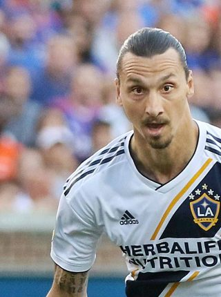 Zlatan Ibrahimović playing for LA Galaxy (Photo: Jamie Smed, Wikimedia Commons)